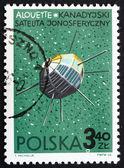 Postage stamp Poland 1966 Alouette, Canadian Satellite — Stock Photo