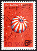 Postage stamp Poland 1966 San Marco 1, Italian Satellite — Stock Photo
