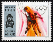 Postage stamp Poland 1968 Basketball, Olympic sports, Mexico 68 — Stock Photo