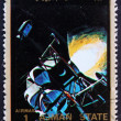Stock Photo: Postage stamp Ajm1973 Eagle and Columbiin Space