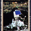 Postage stamp Ajman 1973 Lunar Probe — Stock Photo #11430971
