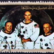 Postage stamp Ajman 1973 Crew of Apollo 11 - Stock Photo