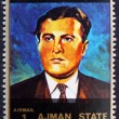 Postage stamp Ajman 1973 Wernher von Braun, Rocket Scientist — Stock Photo