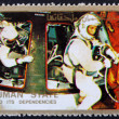 Постер, плакат: Postage stamp Ajman 1973 Astronauts and Command Module