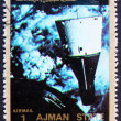 Postage stamp Ajman 1973 Rendezvous of Gemini 6 and 7 - Stock Photo