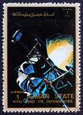 Znaczek ajman 1973 orła i columbia w przestrzeni — Zdjęcie stockowe