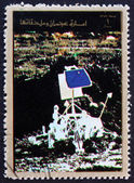Sonda lunar estampilla ajman 1973 — Foto de Stock