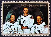 Postage stamp Ajman 1973 Crew of Apollo 11 — Stock Photo