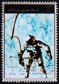 Postage stamp Ajman 1973 Edward White during Spacewalk, Gemini 4 — Stock Photo