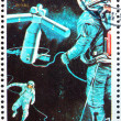 Stock Photo: Postage stamp Umm al-Quwain 1972 Space Station, Artist's Vision