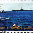 Postage stamp Umm al-Quwain 1972 Space Capsule Recovery, Apollo — Stock Photo #11447007