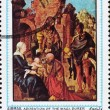 Postage stamp Ajman 1970 Adoration of the Magi by Albrecht Durer — Stock Photo