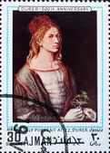 Postage stamp Ajman 1970 Self Portrait by Albrecht Durer — Stock Photo