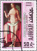 Postage stamp Ajman 1970 Lucretia by Albrecht Durer — Stock Photo