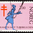 Postage stamp Norway 1982 Nurse, Fight against Tuberculosis — Stockfoto #11466044