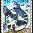 Postage stamp Norway 1983 Mountaineers and Mountains — Stock Photo