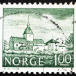 Postage stamp Norway 1978 Austratt Manor, Trondheim - Stock Photo