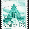 Postage stamp Norway 1982 The Remembrance Hall, Stavern - Stock Photo