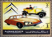 Postage stamp Ajman 1972 Citroen, Cars Then and Now — Stock Photo