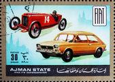 Selo fiat de ajman 1972, carros, então e agora — Foto Stock