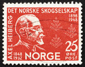 Postage stamp Norway 1948 Axel Heiberg, Norwegian Diplomat — Stock Photo