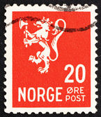 Postage stamp Norway 1937 Lion Rampant, Norwegian Lion — Stock Photo