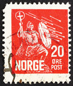 Postage stamp Norway 1930 Saint Olaf, King of Norway — Stock Photo