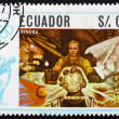 Stock Photo: Postage stamp Ecuador 1967 Wanderer by Diego Rivera