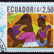 Stock Photo: Postage stamp Ecuador 1967 Two Women by Diego Rivera