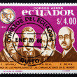 Postage stamp Ecuador 1966 Pioneers of Telecommunications — Stock Photo