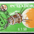 Postage stamp Ecuador 1966 Lun3, Soviet Space Probe — Photo #11492054