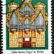 Royalty-Free Stock Photo: Postage stamp GDR 1976 Silbermann Organ, St. George's Church,