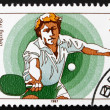 Postage stamp GDR 1987 Table Tennis — Stock Photo