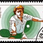 Postage stamp GDR 1987 Table Tennis — Stock Photo #11494976