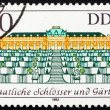 Postage stamp GDR 1983 Sanssouci Palace, Potsdam, Germany — Stock Photo