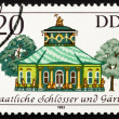 Stock Photo: Postage stamp GDR 1983 Chinese Teahouse, Potsdam, Germany