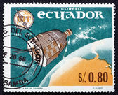 Postage stamp Ecuador 1966 Relay 1, Earth and Television — Stock Photo