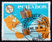 Postage stamp Ecuador 1966 Syncom 2, Earth and Television — Stockfoto