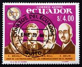 Postage stamp Ecuador 1966 Pioneers of Telecommunications — Stock Photo