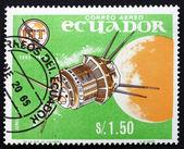 Posta pulu ekvador 1966 luna 3, sovyet uzay sondası — Stok fotoğraf