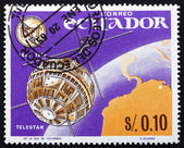 Postage stamp Ecuador 1966 Telstar, Earth and Television — Stock Photo