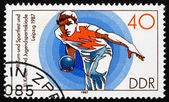 Postage stamp GDR 1987 Bowling — Stock Photo