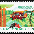 Postage stamp Finland 1992 Currant Harvesting — Stock Photo