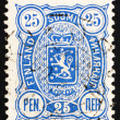 Stock Photo: Postage stamp Finland 1895 Crowned Lion Rampant
