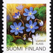 Postage stamp Finland 1992 Hepatica, Flower — Stock Photo