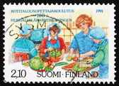 Postage stamp Finland 1991 Home Economics Education — Stockfoto
