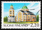 邮票芬兰 1988年凯里迈基教堂芬兰 — 图库照片