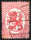 Postage stamp Finland 1920 Arms of the Republic of Finland — Stock Photo