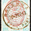 Stock Photo: Postage stamp Italy 1956 Globe, Italy's admission to UN
