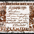 Postage stamp Italy 1960 Garibaldi's proclamation — Stock Photo #11538080